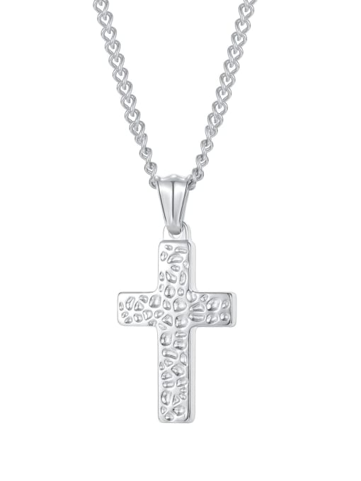 2000 [steel single pendant] Titanium Steel Hip Hop Cross Pendant